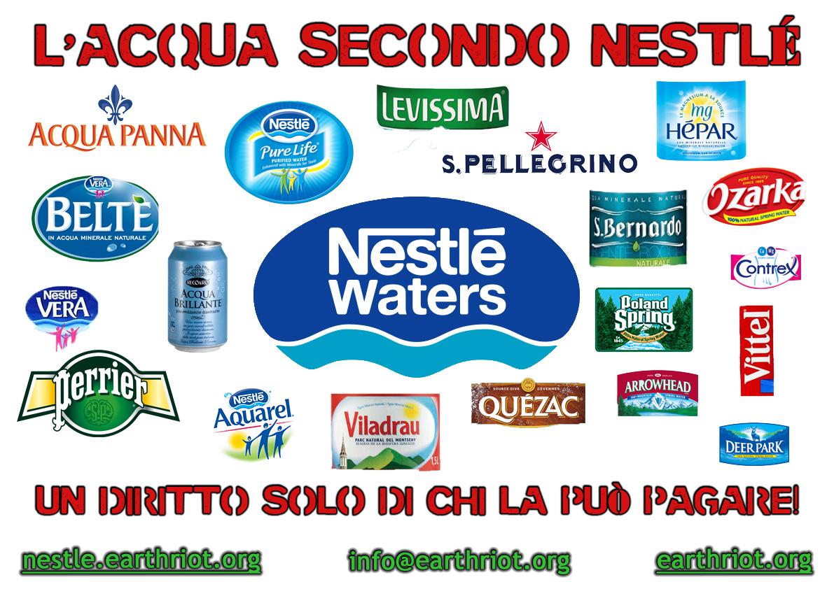 I marchi di acqua controllati da Nestlé