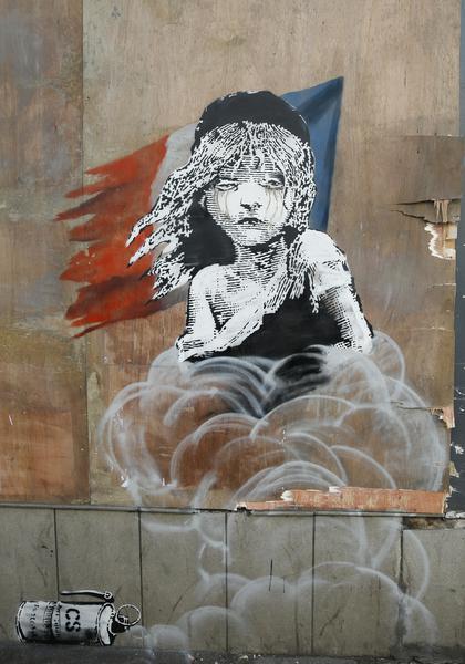 banscky ragazza lacrimogeni