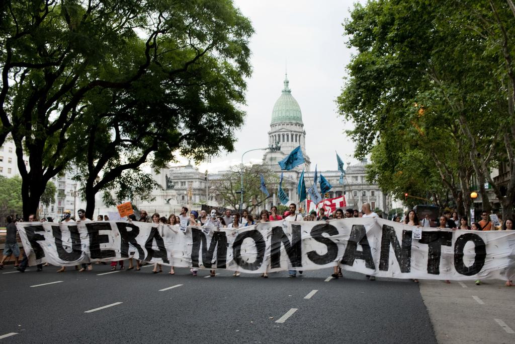 Argentine: Campement face ˆ l‰ssemblŽ contre l'instalation de l'usine de Monsanto dans la localitŽ de Malvinas Argentinas ˆ Cordoba