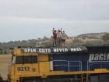 Australia blocco treno action-1