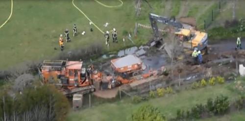 L'incidente alla conduttura del 5 aprile scorso.