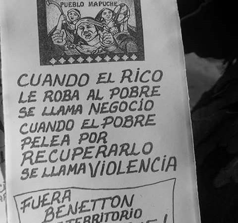 Il capitalismo mata un altro Mapuche