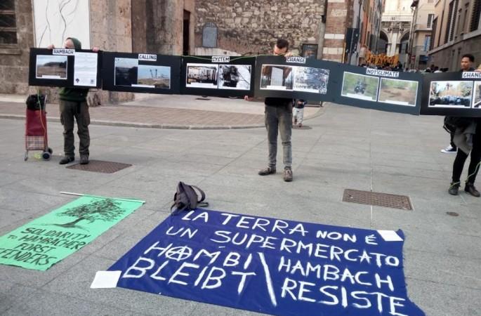 La Terra non è un supermercato – report del presidio di Brescia per Hambach