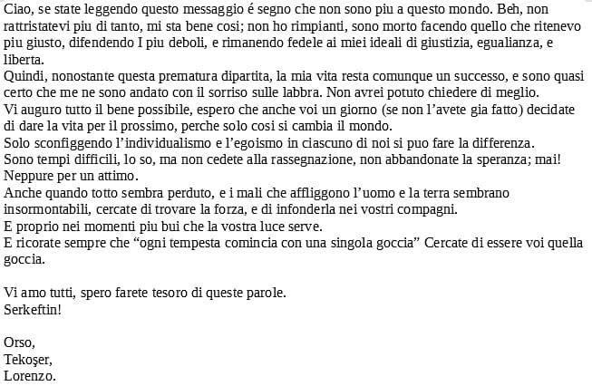 lettera lorenzo